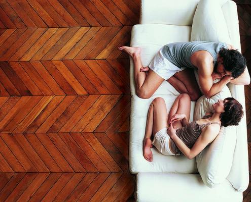 Holzboden von der Tischlerei
